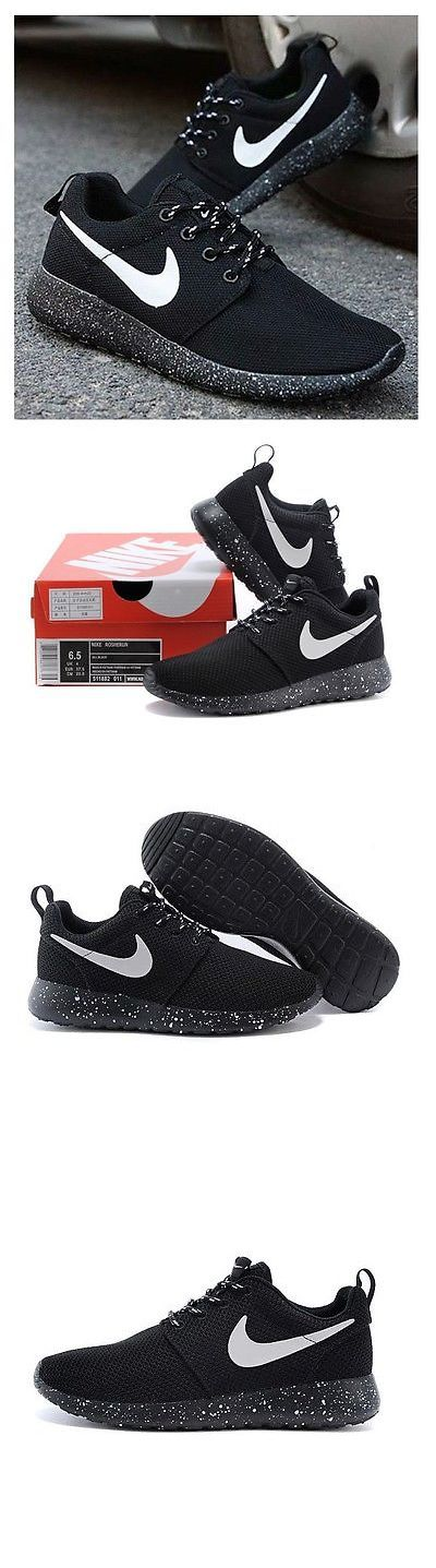 Athletic 95672: Womens Nike Roshe Run Black And White Speckles Rosherun Running Shoes Sneakers -> BUY IT NOW ONLY: $59 on eBay!
