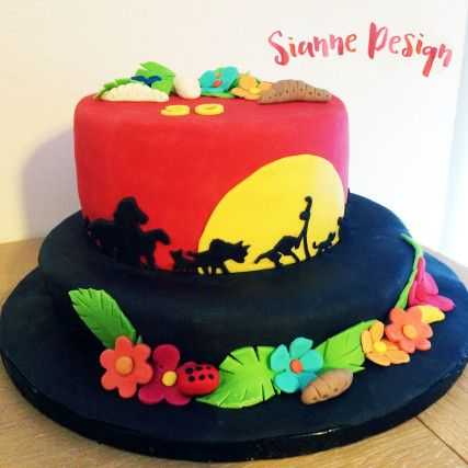 Sianne Design - Gâteau personnalisé le Roi Lion / Hakuna Matata