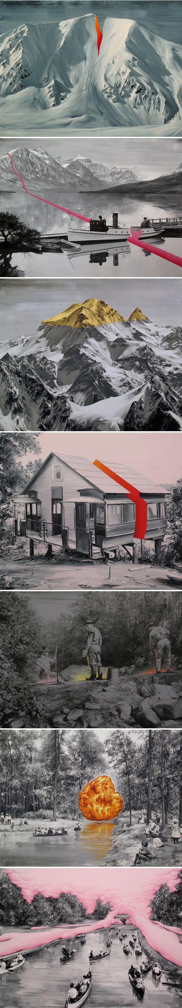 paco pomet Un collage merveilleusement artistique une vraie séquence avec un fil conducteur. #Collage