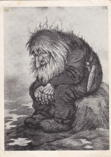 Trolls: Perhaps most abundant are the stories about the race of trolls (Danish: trolde, Swedish/Norwegian: troll). Trolls come in many different shapes and forms, and are generally not fair to behold, as they can have as many as nine heads. Trolls live throughout the land, dwelling in mountains, under bridges, and at the bottom of lakes (source: http://en.wikipedia.org/wiki/Scandinavian_folklore).