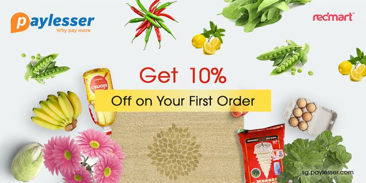 Get your first order with 10% discount on the use of the coupon at Paylesser. Grocery shopping is now even easier. #Redmart #Grocery #Coupon #Paylesser Why pay more?