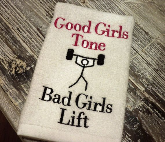Workout Towels With Sayings: Gym Towel, Lift Weights, Motivation, Bad Girls