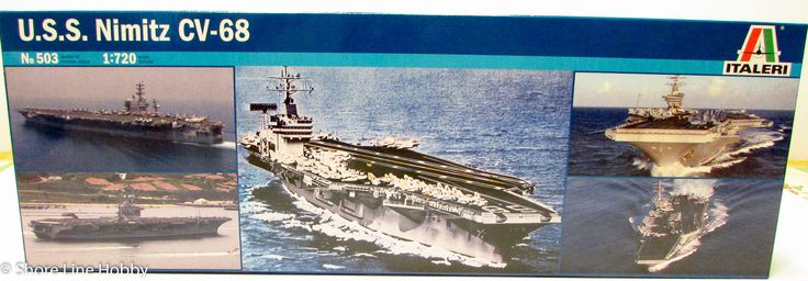 Italeri USS Nimitz CV-68 Aircraft Carrier 503 New Ship Plastic Model Kit 1/720