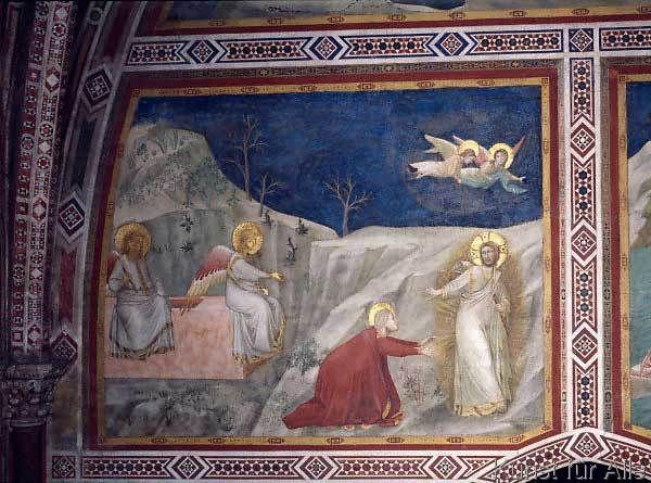 Assisi, Kirche San Francesco, Unterkirche, Magdalenenkapelle, Ostwand, Berühre mich nicht, GIOTTO di Bondone, ca 1305 - 1309 entstanden