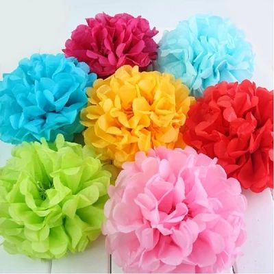 "Livraison gratuite 1 pc 12 "" ( 30 cm ) papier de soie Pom Poms Wedding Party Decor Craft festival décoration"