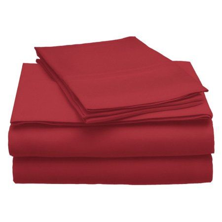Superior 300 Thread Count Modal from Beech Sheet Set , Solid, Red