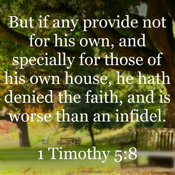 1 Timothy 5:8 | Bible Promises