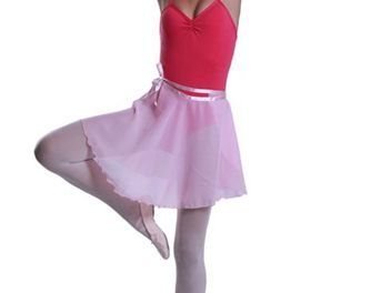 Ballet Wrap Chiffon Skirt. BLACK or PINK