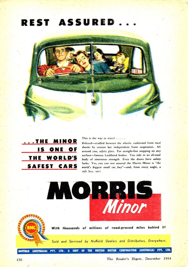 https://flic.kr/p/LnTcpD   1955 Morris Minor 1000 BMC Aussie Original Magazine Advertisement