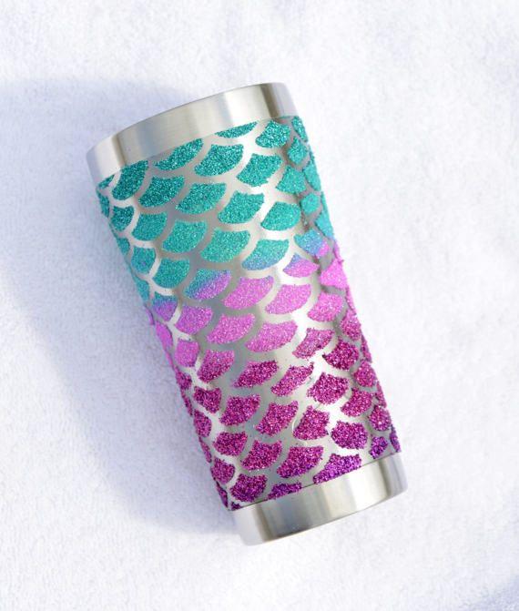 Mermaid Scale glitter CUSTOM YETI or OZARK by GlitterYetiShop
