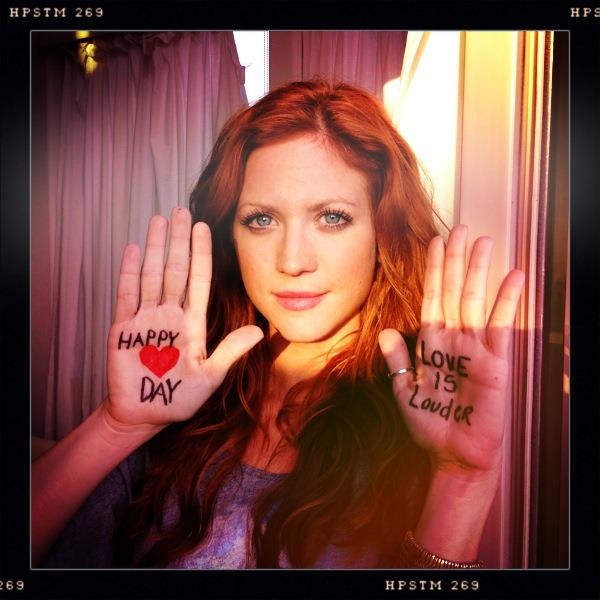 Brittany Snow with red hair - amazing color!