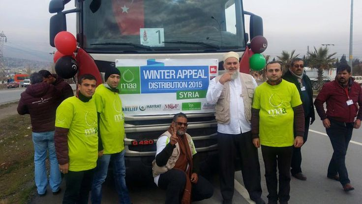 Our CEO Sh Hassan and volunteers on their way to the border of Turkey and Syria to begin a massive distribution of food and winter supplies to our Syrian brothers and sisters.  #MuslimAidAustralia www.muslimaid.org.au