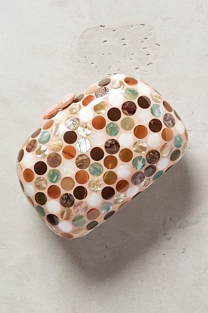 Serpui Marie Dotted Mother-of-Pearl Box Clutch