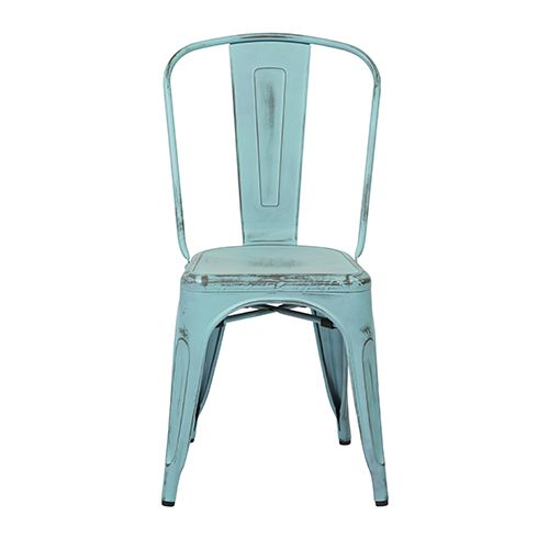 Bristow Antique Sky Blue Armless Chair, Set Of 4 Office Star Products Side Chairs Dining