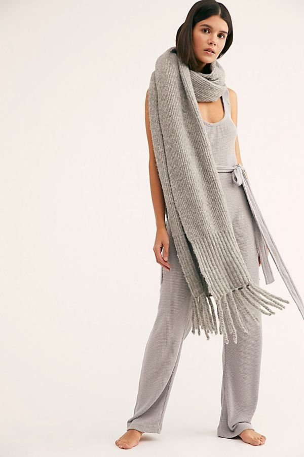 e147a835d938 Heartbreaker Jumper - Soft Gray Knit Sleeveless Jumpsuit with Ribbed  Texture and Tie Waist - Sleeping Jumpsuits - Lounging Jumpsuits - Cute  Loungewear