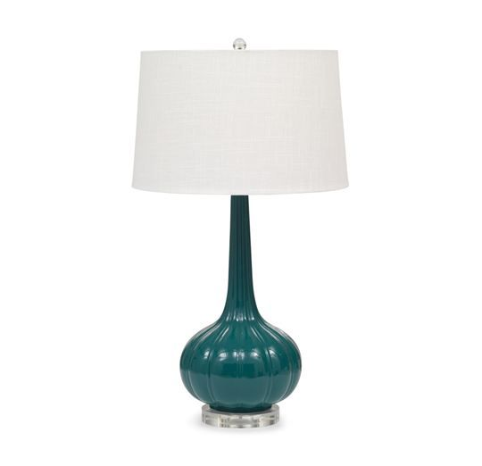 MARNIE TABLE LAMP TEAL<BR>[available online and in stores]