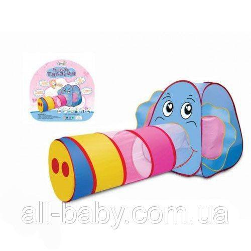 Детская игровая палатка Слоник с тоннелем 889-87B, цена 507,50 грн., купить в Харькове — Prom.ua (ID#394974285)