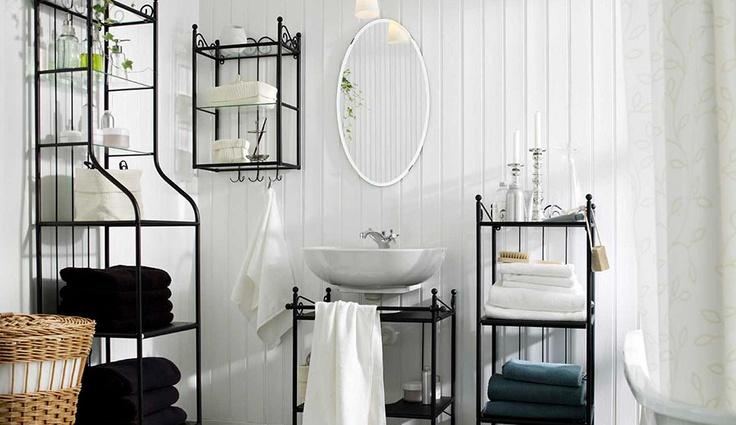 Las baldas de cristal de los muebles de ba o de ikea est n for Muebles bano rusticos ikea