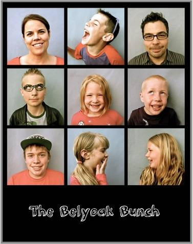 A fun blended family picture. I want to do this with all the kids!
