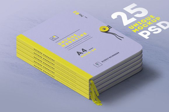 [25] UNIQUE MAGAZINES MOCKUPS/rivet by Aleksey_Belorukov on @creativemarket