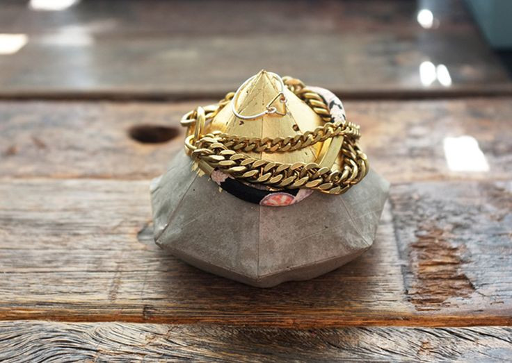 All products are handmade by Your Pal Al I m not usually a diamond gal but this concrete diamond with gold leaf is what I m talkin about It s multifunctional and can be used for anything and everything Jazz up your desk with a diamond tilted on its side as decoration Use it as a display for rings and