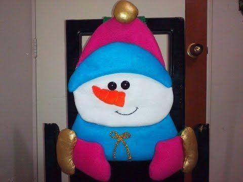 Descargar: Molde cubresillas muñeco de nieve | EcoArtesanias