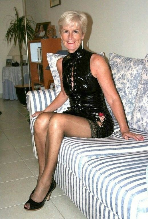 Mature granny in fetish