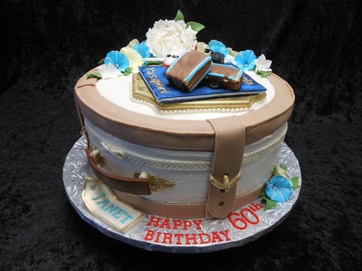60th Birthday Cake 2013, Travel Theme