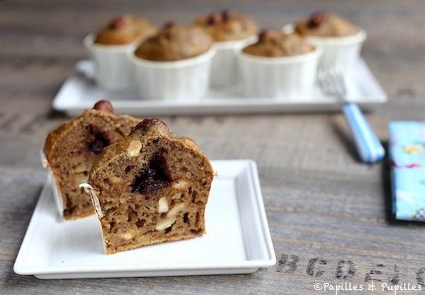 Muffins Danette Expresso noisettes, coeur chocolat en coupe