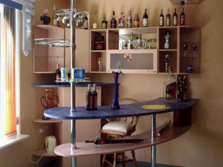 Многоуровневая барная стойка на кухне