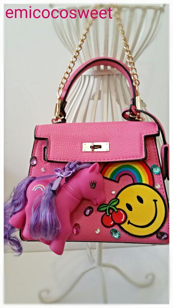 Pony Bag,Mini bag,Unicorn Bag,Cute Bag,Kawaii Bag,My Little Pony bag,Pink Bag in Clothing, Shoes, Accessories, Girl's Accessories, Purses & Wallets   eBay