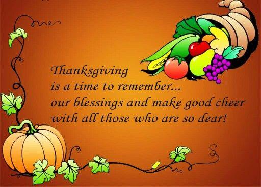 Thanksgiving saying