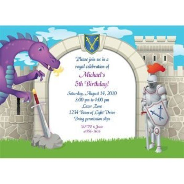 Check Out Knight Personalized Invitation Each