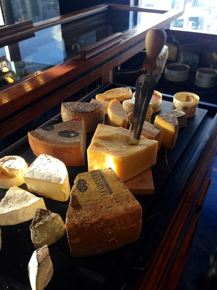 Cheese trolley at Vue de Monde in Melbourne with 3 of our Rolf Beeler cheeses on display.