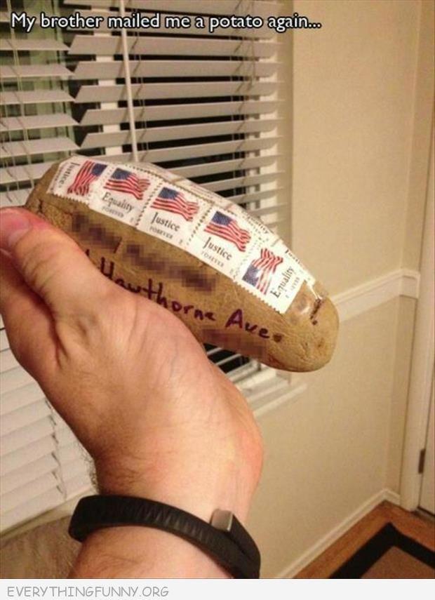 I want to mail somebody a potato
