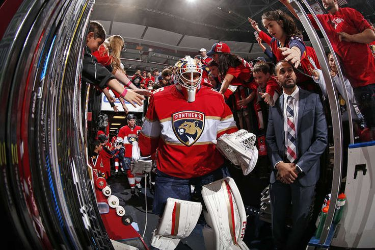 SUNRISE, FL - OCTOBER 13: Goaltender Roberto Luongo #1 of the Florida Panthers heads out to the ice prior to the start of the game against the New Jersey Devils at the BB&T Center on October 13, 2016 in Sunrise, Florida. (Photo by Eliot J. Schechter/NHLI via Getty Images)
