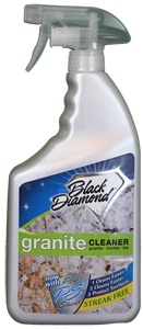 Black Diamond Stoneworks' Granite Cleaner is a premier product designed specifically for the care and maintenance of high-end Granite, Marble and Tile counter tops. Granite is the fastest growing counter material in the United States.