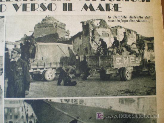 Coleccionismo de Revistas y Periódicos: IL MATTINO ILLUSTRATO Nº 14 (04/04/38) GUERRA CIVIL BELCHITE ALCAÑIZ ZARAGOZA ARAGON - Foto 5 - 9366584