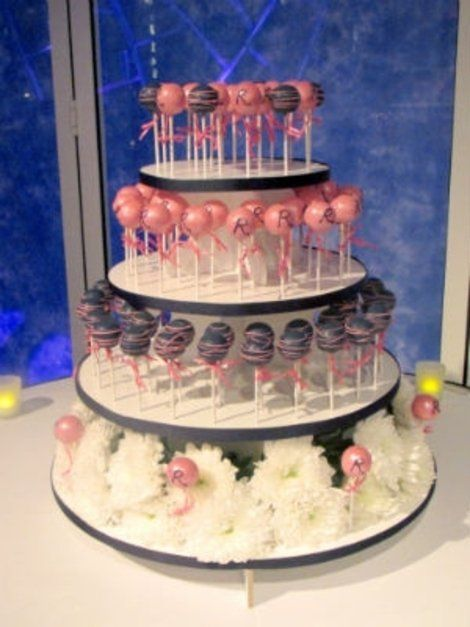 Formal and Fun: The Cake Pop Wedding Cake | Shine Food - Yahoo! Shine