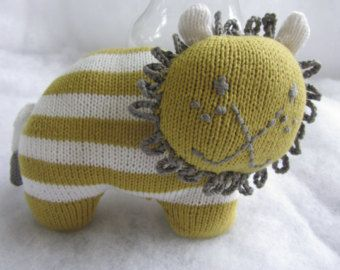 Hand knit lion toy/rattle made of all natural cotton. - Edit Listing - Etsy