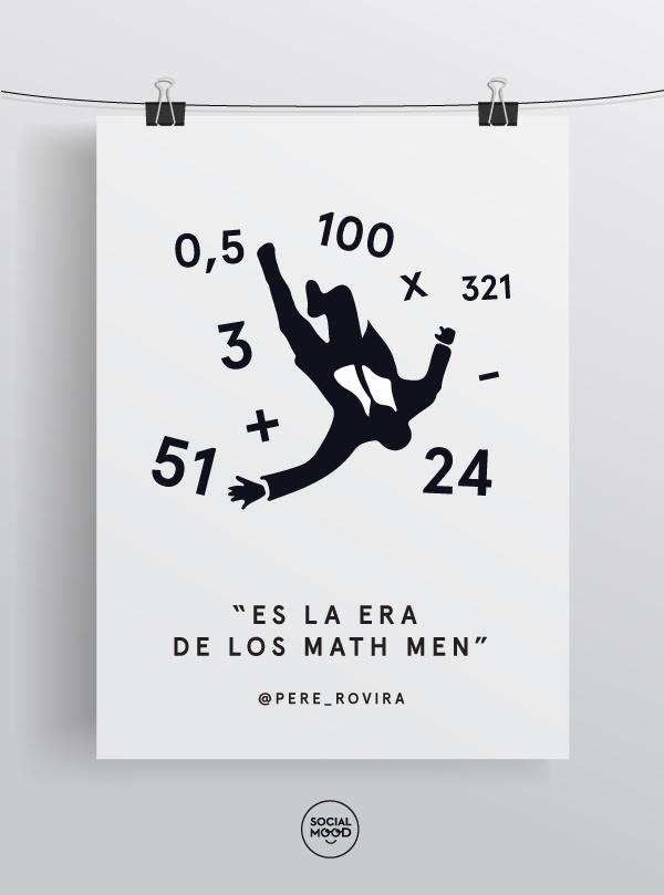 """""""Es la era de los Math Men"""" por @pere_rovira en el #GAUCBCN13 #delicatessen"""