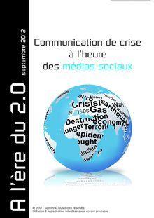 Rédaction d'un livre blanc à 8 mains sur la communication de crise à l'heure des médias sociaux