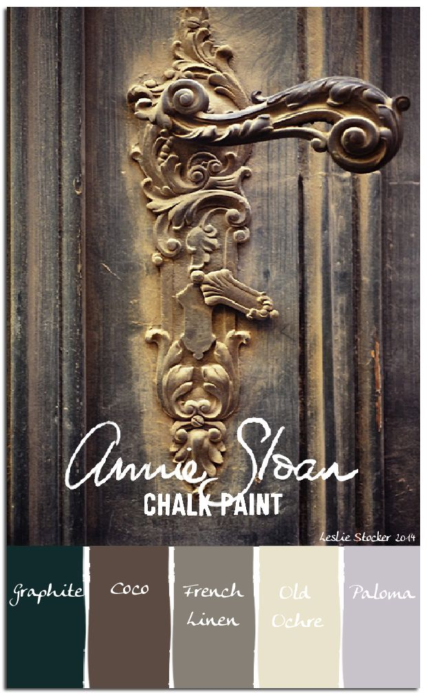 A somber mix of Chalk Paint neutrals, with just a hint of Paloma, are layered to form a well worn patina.