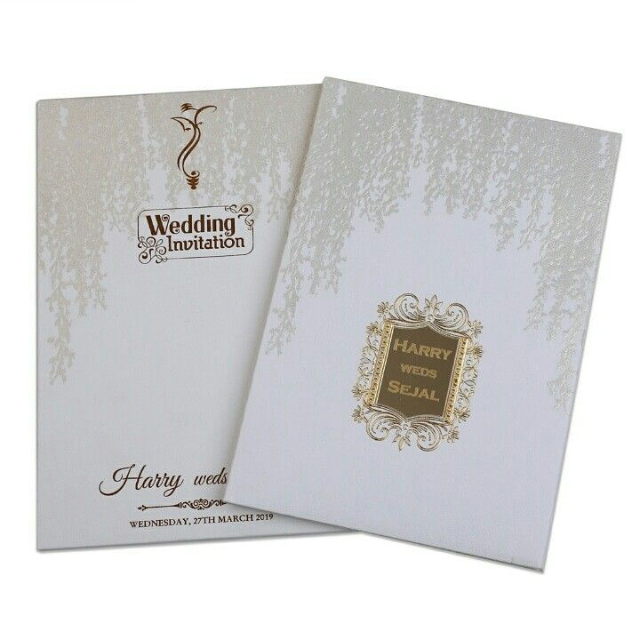 Simple And Elegant Royal Hardbound Indian Wedding Invitation Card
