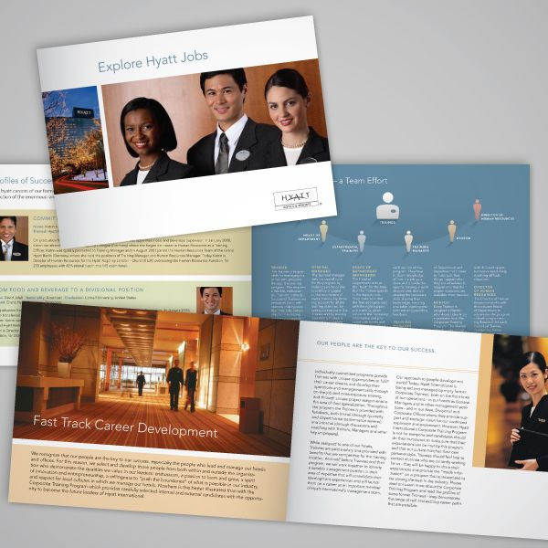hyatt international recruitment brochure designed by nancy anderson