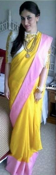 A Masaba saree and jewels by #Amrapali .