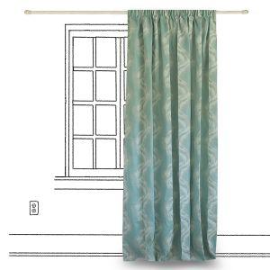 Κουρτίνα 250x280cm Twist Aqua - pennie.gr