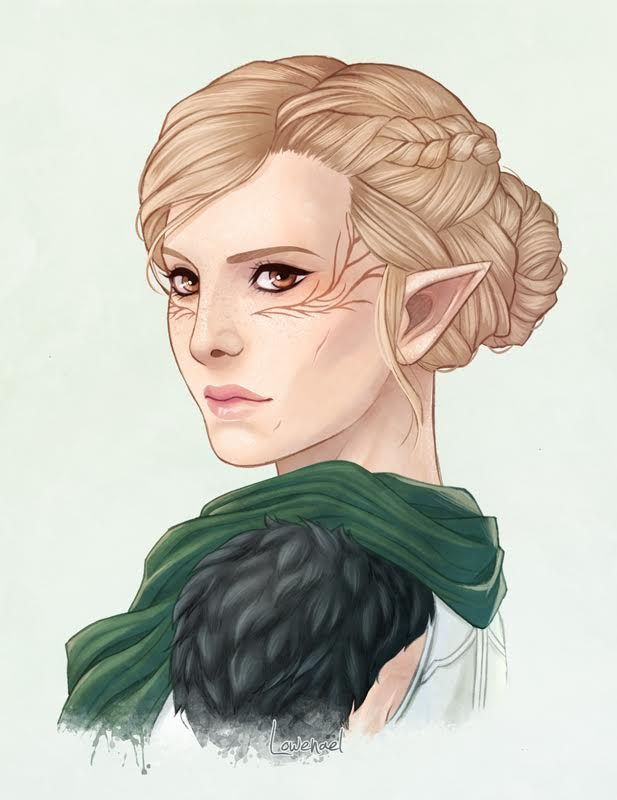 """scumbag-solas: """"So I had the privilege of commissioning the talented @needapotion for a portrait of my newest Inquisitor, Elowyn. I'm absolutely in love with how it turned out! """" I'm glad you love it! Thank you for commissioning me!"""