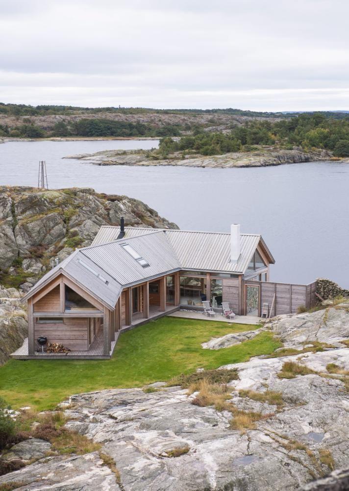 Tett p sj en denne hytta p hvaler er tegnet av arkitekt for Arkitect home