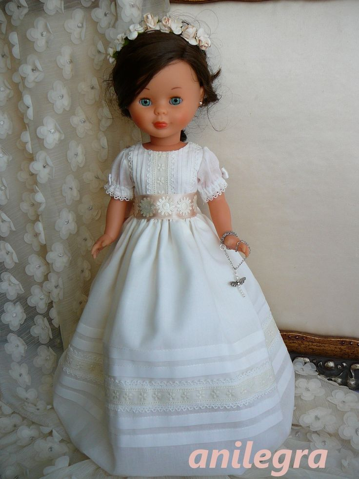 ANILEGRA COSE PARA NANCY: Vestido de comunión para Nancy en batista VENDIDO